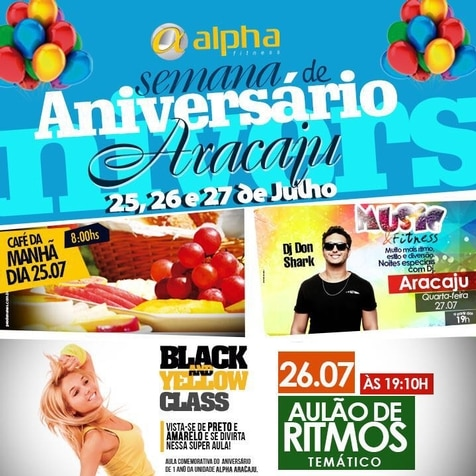 DJ Don Shark anima primeiro aniversário da Alpha Fitness Aracaju