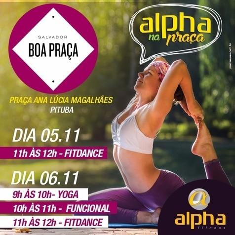 Rede Alpha Fitness promove aulas gratuitas no Boa Praça