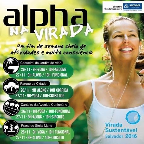 Rede Alpha Fitness promove atividades para toda a família durante a Virada Sustentável