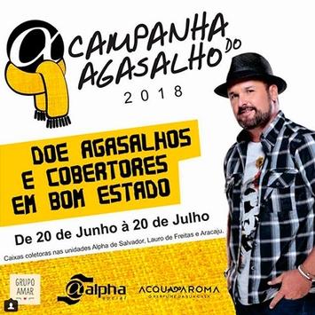 """Léo Macedo apadrinha """"Campanha do Agasalho 2018"""", da Rede Alpha Fitness"""