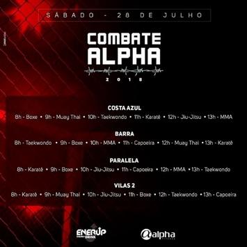 Rede Alpha Fitness promove evento com aulas de lutas, neste sábado (28)