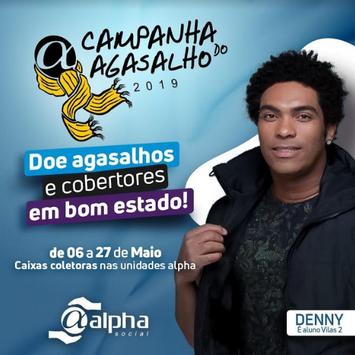 """Denny Denan é padrinho da """"Campanha do Agasalho 2019"""" da Rede Alpha Fitness"""
