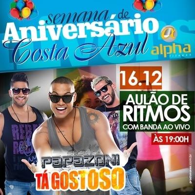 Papazoni é atração do aniversário Alpha Fitness Costa Azul