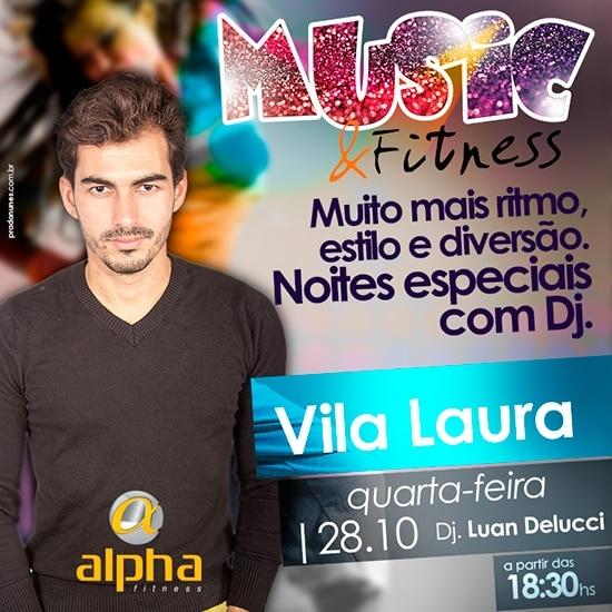 Luan Delucci é atração do aniversário da Alpha Fitness Vila Laura