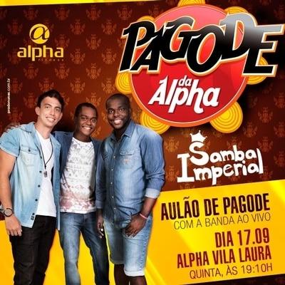 Samba Imperial faz pocket show no Pagode da Alpha