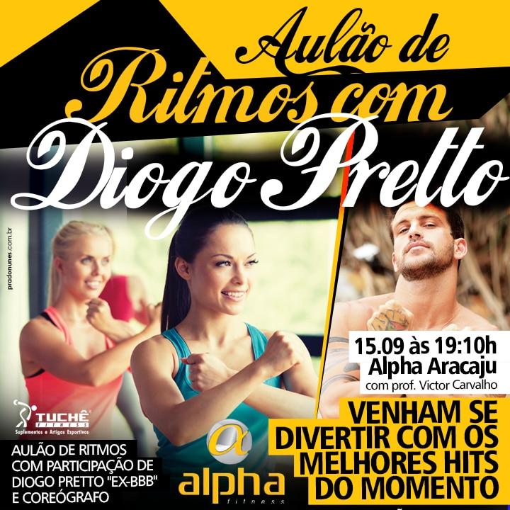 Rede Alpha promove aulão de Ritmos com participação do ex-BBB Diogo Pretto