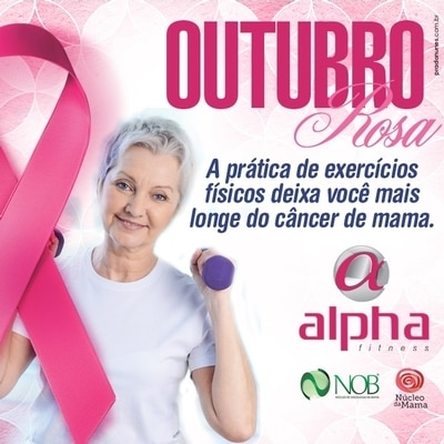Alpha Fitness promove ações para fortalecer o Outubro Rosa