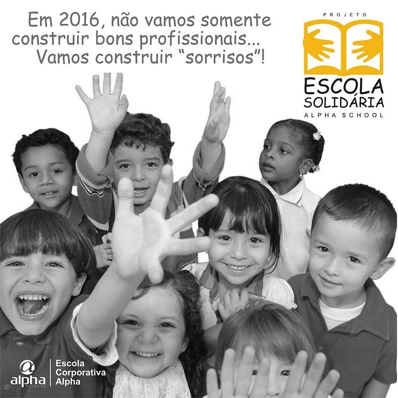 Rede Alpha Fitness lança Projeto Escola Solidária Alpha School