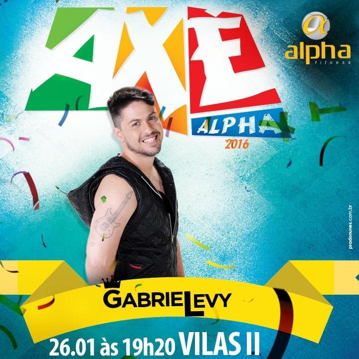 Gabriel Levy comanda últimas edições 2016 do projeto Axé Alpha