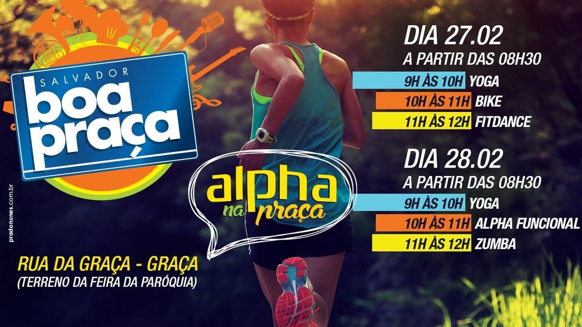 Rede Alpha Fitness leva atividades físicas para o Projeto Boa Praça