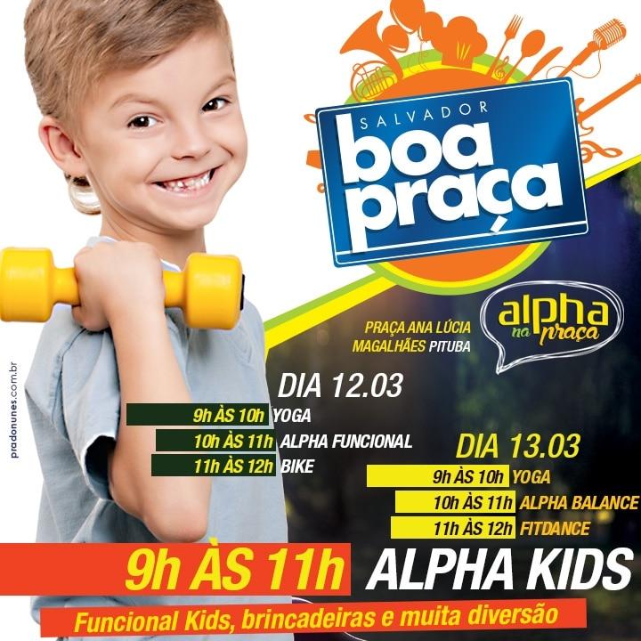 Alpha Fitness volta ao Boa Praça com programação especial para criançada