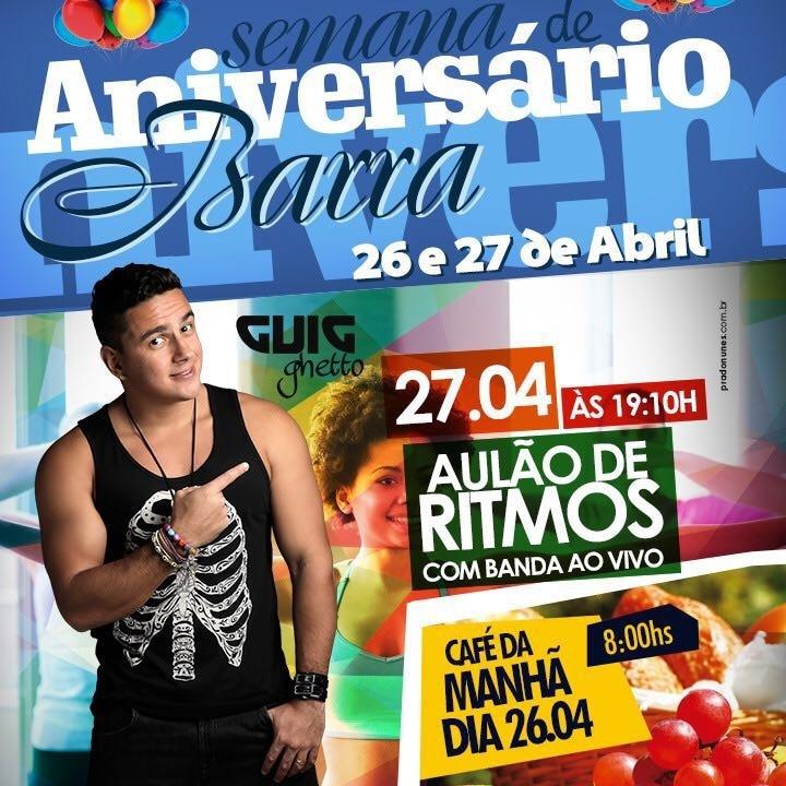 Guig Ghetto comanda festa de aniversário da Alpha Fitness unidade Barra