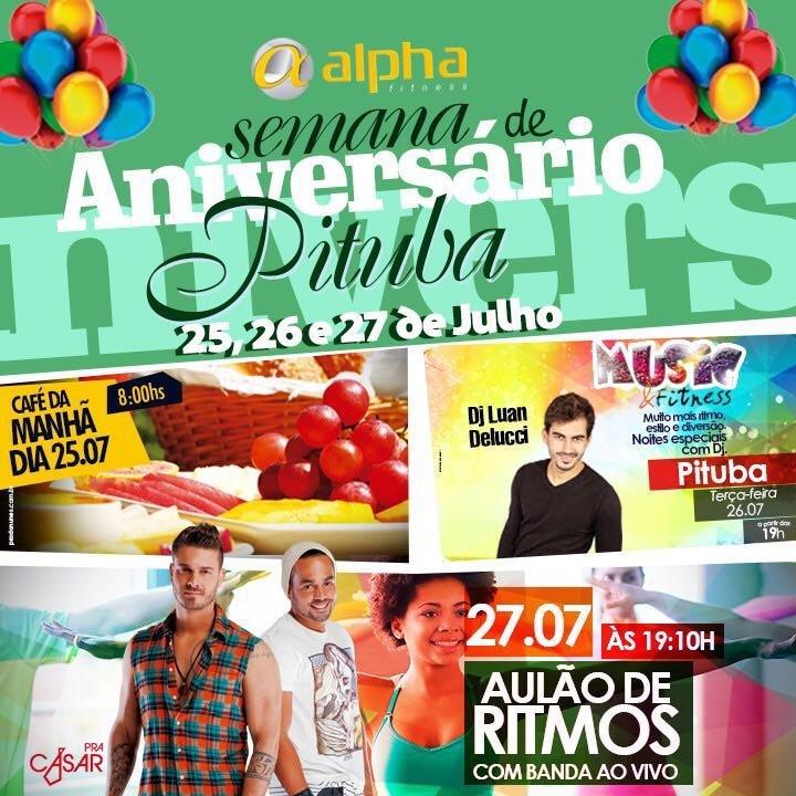 DJ Luan Delucci e banda Pra Casar animam aniversário da Alpha Fitness Pituba