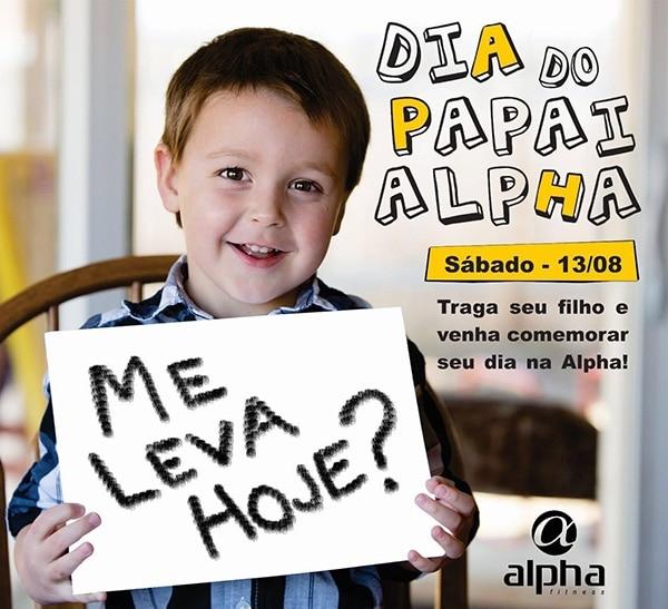 Dia dos Pais da Rede Alpha Fitness terá atividades especiais para os filhos