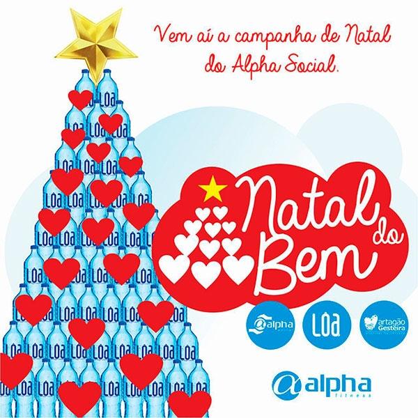 """Rede Alpha Fitness lança campanha """"Natal do Bem"""""""
