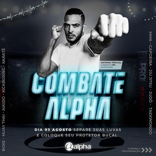 Evento com aulas de lutas promovidas pela Rede Alpha Fitness acontece neste sábado (03)