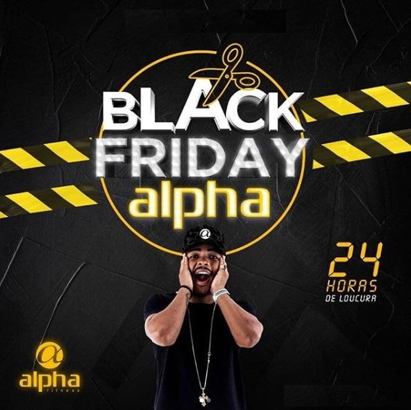 BLACK FRIDAY: Rede Alpha Fitness terá valores especiais nesta quarta-feira (06)