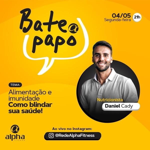 Daniel Cady participa nesta segunda-feira do Bate Papo Alpha