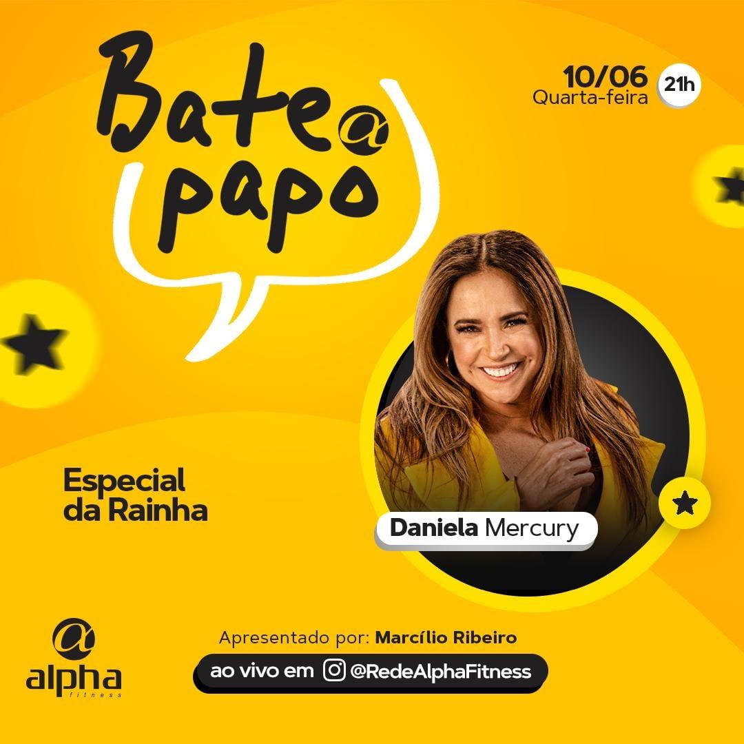 Daniela Mercury é convidada de edição especial do projeto Bate Papo Alpha nesta quarta (10)