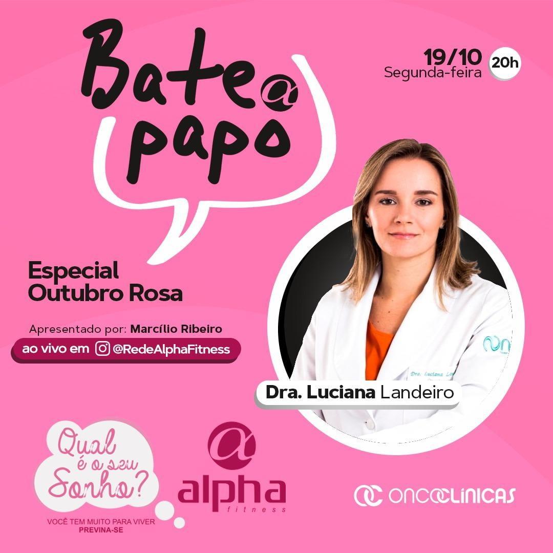 OUTUBRO ROSA será tema do próximo Bate Papo Alpha, da Rede Alpha Fitness